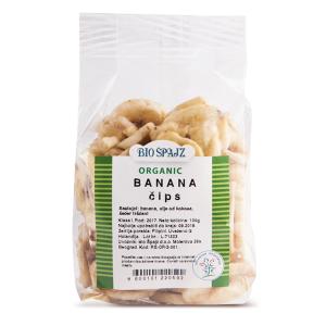 Organski banana čips - 100g