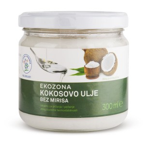 Organsko kokosovo ulje bez mirisa - 300ml