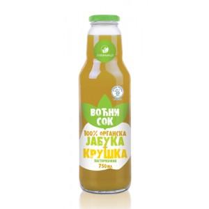 Organski sok od kruške i jabuke - 0,75l