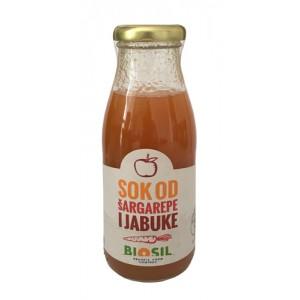 Organski sok šargarepa + jabuka - 250ml