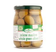 Organske zelene masline sa kosticom 550g